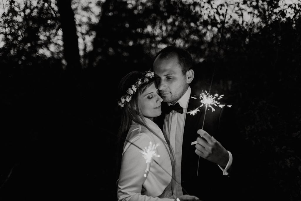 hotel janów, fotograf ślubny, zimne ognie