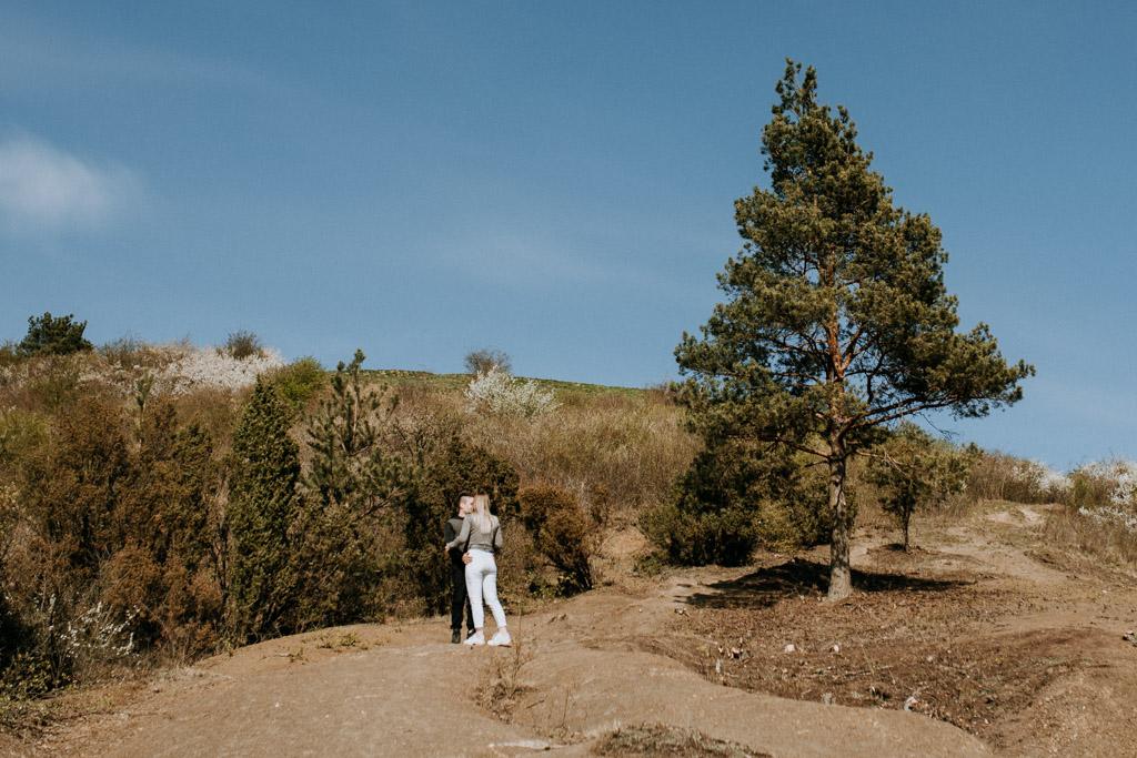 narzeczeńska sesja w sandomierzu w górach