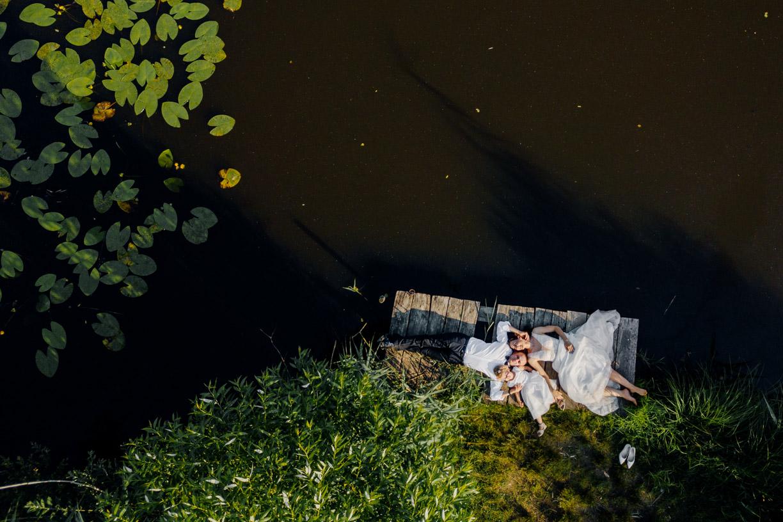 plener slubny, fotografia z drona, dron
