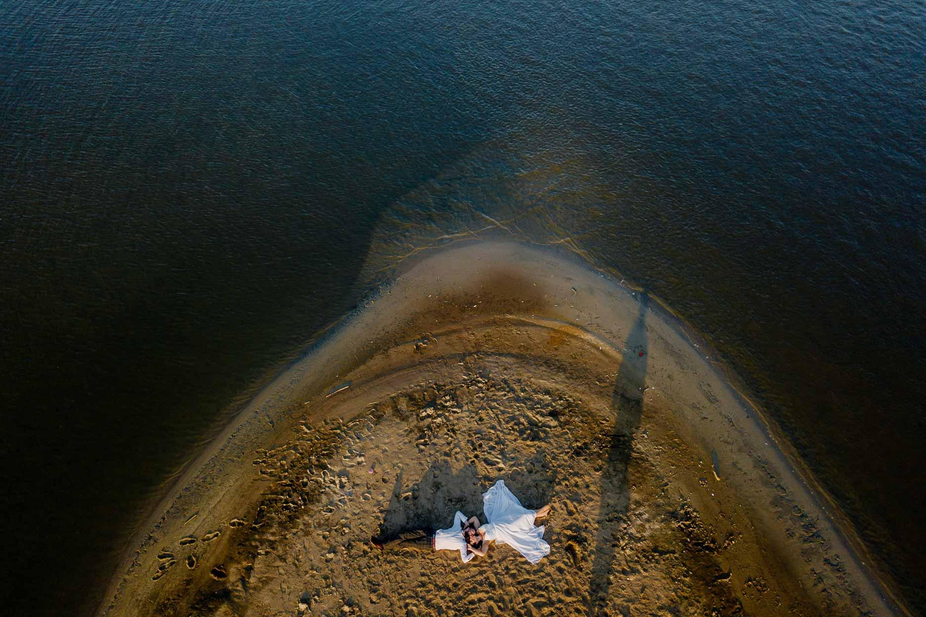 ślubna sesja z drona w sandomierzu