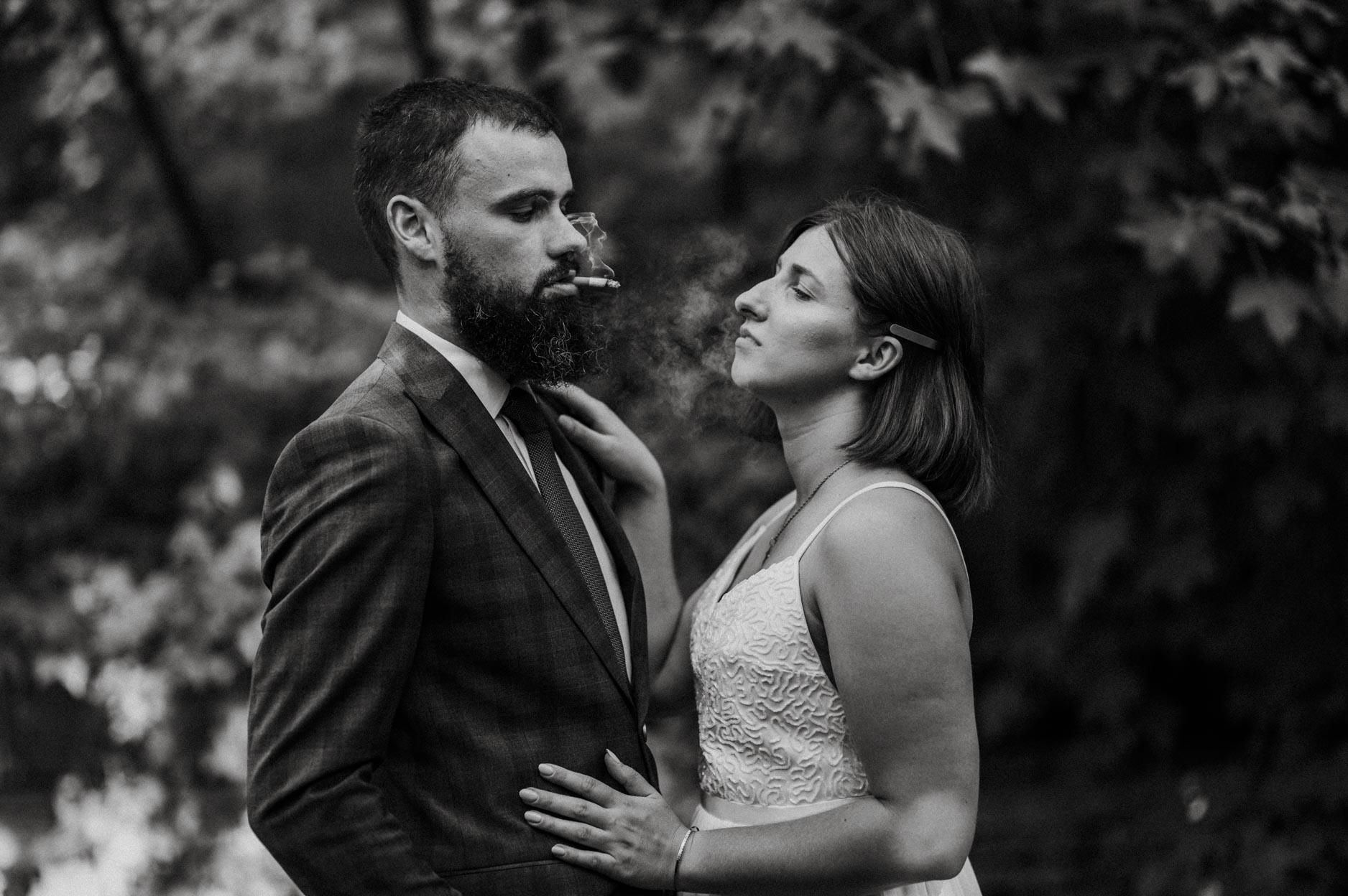 szklarniowa sesja ślubna w stalowej woli
