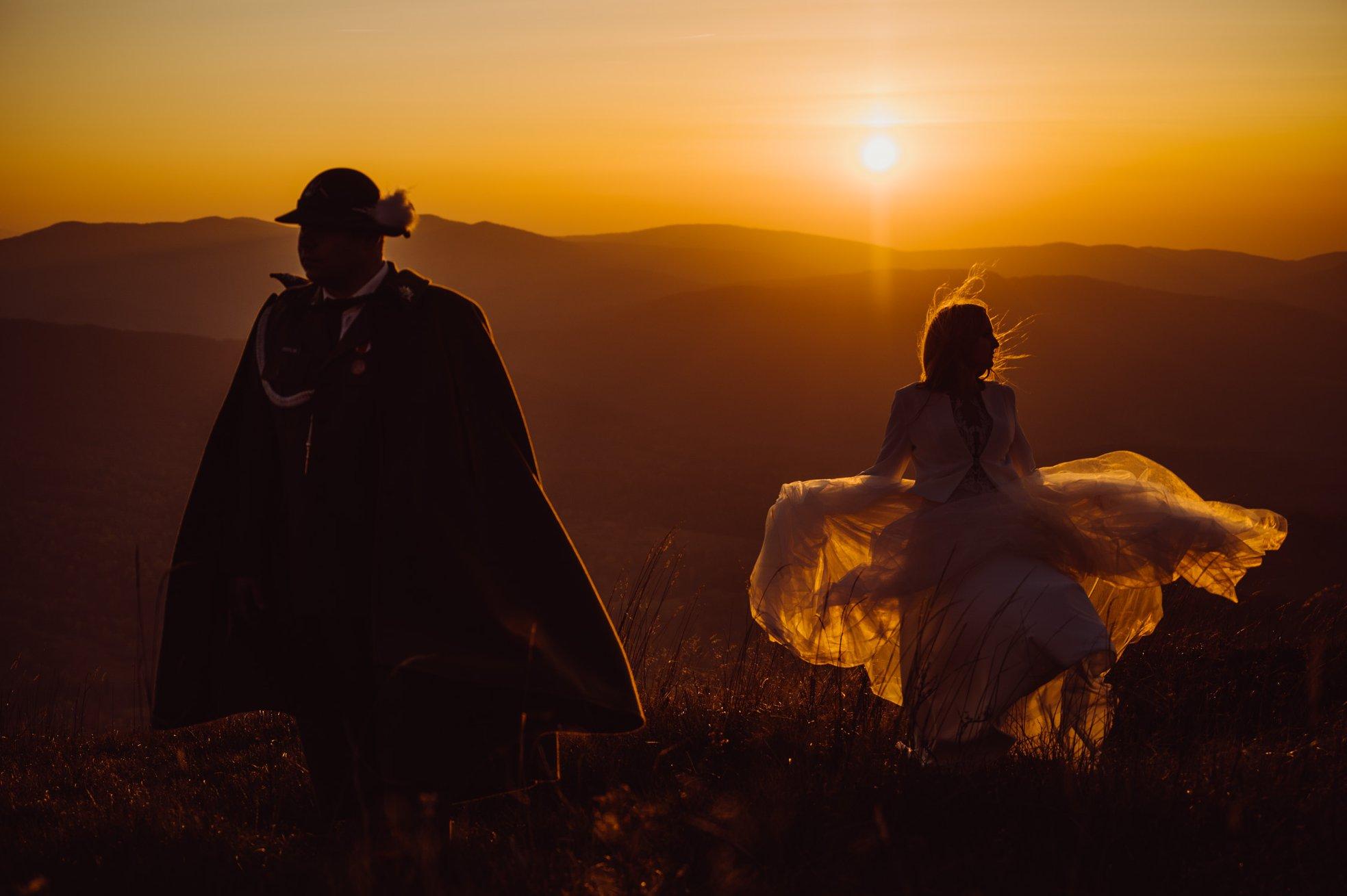 fotograf ślubny, sesja ślubna w bieszczadach