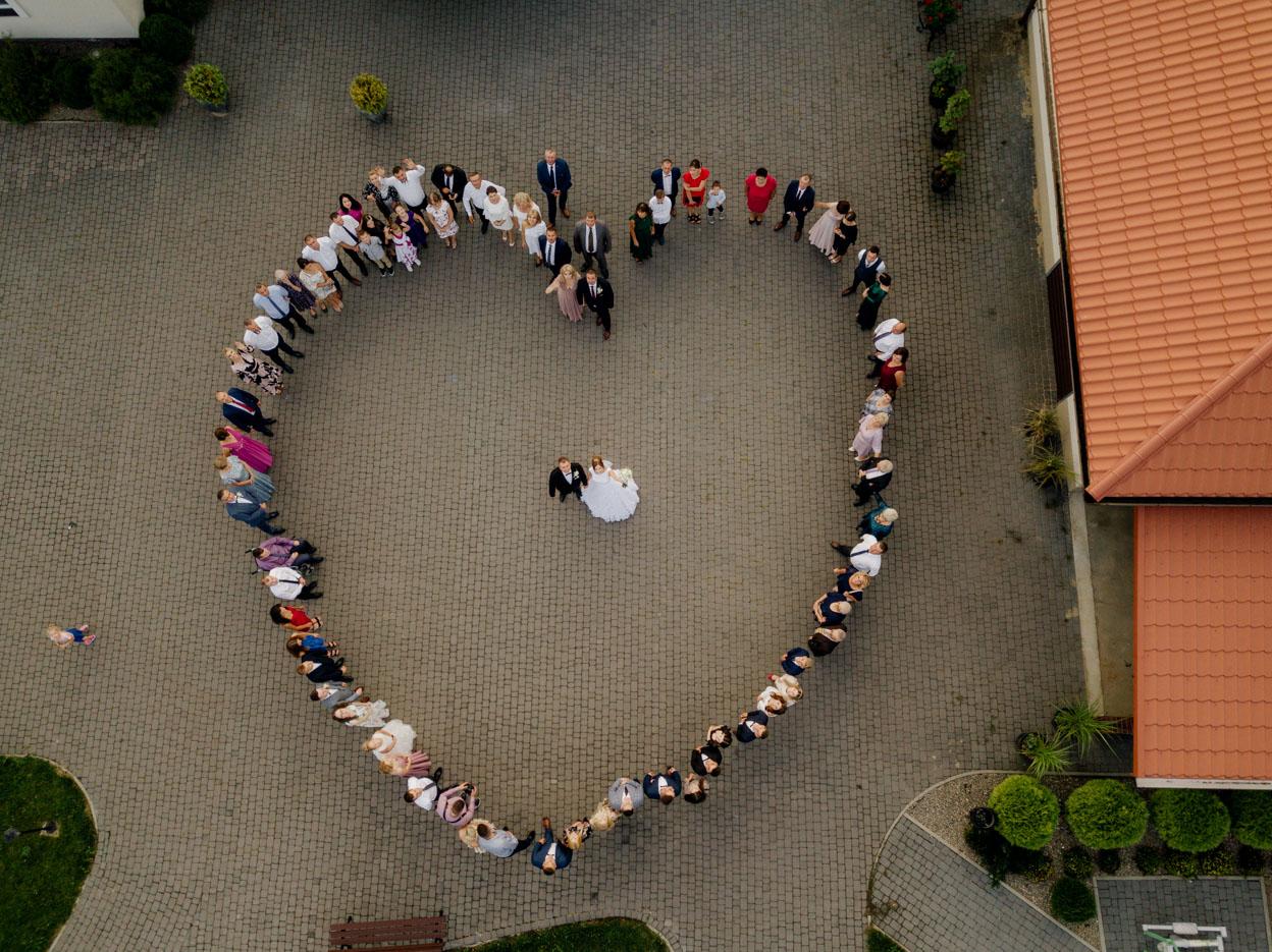 serce z drona, atrakcje weselne