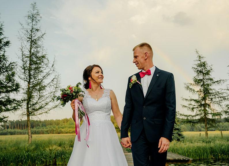 sesja ślubna w czasie wesela
